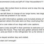 Testimonials for in home dog boarding alternative