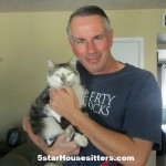 Jeff pictured housesitter and petsitter with Vera